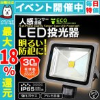 LED投光器 30W 300W相当 人感センサースイッチ付き 防犯 広角120度 防水加工 3mコード付 電球色 (クーポン配布中)