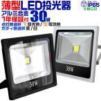 LED投光器 30W 300W相当 防水 LEDライト 集魚灯 作業灯 防犯灯 ワークライト 看板照明 昼光色/電球色/緑 薄型 (クーポン配布中)