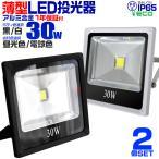 LED投光器 30W 300W相当 防水 LEDライト 集魚灯 作業灯 防犯灯 ワークライト 看板照明 昼光色/電球色/緑 薄型 一年保証 2個セット (クーポン配布中)