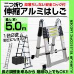 伸縮 はしご 脚立 ハシゴ アルミ 伸縮はしご 伸びる 梯子スーパーラダー 5m (クーポン配布中)