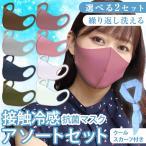 冷感マスク ひんやりマスク 3枚入り 洗える 3D立体マスク 朝9時までのご注文で当日出荷(土日祝日除く)  熱中症対策 スポーツマスク 夏用 大人 子供