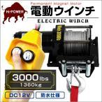 ウインチ 3000LBS 電動ウインチ 1361kg 電動ホイスト DC12V その他電動工具