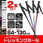 ショッピング登山 トレッキングポール 2本セット I型 ステッキ ストック 軽量アルミ製 登山用杖