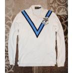 ラグビー ラルフローレン RUGBY RALPH LAUREN メンズ アップリケ&シェブロンストライプ付 長袖ポロシャツ オフホワイト No.4548