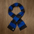 ラグビー ラルフローレン RUGBY RALPH LAUREN メンズ ロゴ刺繍付 ストライプ・マフラー ブラック&ブルー No.rl-stripedscarf1bkr
