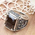 戒指 - 指輪 メンズ リング シルバー925製 オニキス スタイリッシュ エンブレム