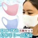 夏用マスク 4枚セット キシリトール配合 冷感マスク 洗える 滑らかな肌触り 肌荒れ UVカット ホワイト ブルー ピンク 冷たい