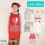 エプロン 子供 キッズエプロン 男の子 女の子 三角巾付き 110cm 120cm
