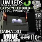 ダイハツ ムーヴ(LA150S/LA160S) LEDライセンスランプT10 Cat's Eye Hyper 3528 SMDウェッジシングル(キャッツアイ) ホワイト7800K 入数2個