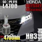 ホンダ オデッセイ アブソルート RC1/RC2 LEDハイビームランプ SCOPE EYE(スコープアイ)L3300 全光束3300ルーメン プレミアムホワイト6700K HB3