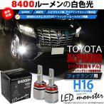 ショッピングLED 15-A-1)アルファードHV(AYH30W)LEDフォグランプ LED MONSTER L4600 LEDフォグランプキット 全光束4600ルーメン ホワイト6600K H16