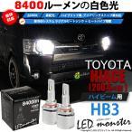 ショッピングLED 15-C-1)トヨタ ハイエース(200系 4型 LEDヘッドランプ装着車)ハイビームランプLED MONSTER L4600 LEDバルブキットLEDカラー:ホワイト6600K バルブ規格:HB3