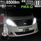 12-D-1)アルファード(GGH/ANH20系後期)ハイビームランプLED 凌駕-RYOGA-L5500 LEDヘッドライトキット 6500K HB3(9005)