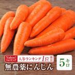 Yahoo!ピカイチ野菜くん(最大40倍)無農薬にんじん 5Kg箱(送料無料)(規格外人参)