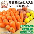 にんじん 人参 送料無料 野菜セット 無農薬にんじん3kg+慣行栽培りんご2kg+慣行栽培レモン500g