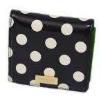 ケイトスペード 財布 katespade パテントレザー ドット ミニ ウォレット 財布 ブラック×クリーム 2111