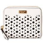 ショッピングケイトスペード 財布 ケイトスペード 財布 katespade コーティングレザー カッティング デザイン 二つ折り 財布 ホワイト 4779