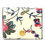 トリーバーチ 財布 TORY BURCH レザー バイカラー 花柄 フラワー プリント コンパクト 二つ折り財布 アイボリーマルチ 50635