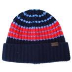 ショッピングコーチ コーチ 帽子 COACH カシミア バリエゲーテッド ストライプ リブ ハット 帽子 ネイビー×レッド 85319