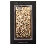 マークバイマークジェイコブス 小物 MARC BY MARC JACOBS フォイルエフェクト メタリック ロゴ エンボスド iPhone6専用ケース ローズゴールド M0006335