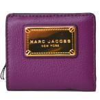 マークジェイコブス コンパクト財布 MARC JACOBS レディース レザー ミニ コンパクト財布 パープル  M0011312