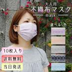 【送料無料】 10枚入り 冷感 マスク 不織布 カラー 不織布マスク 不織布 マスク おしゃれ 大人 レース柄 可愛い 立体型マスク 3層構造