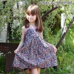 夏ワンピース キッズ 子供服Roraパープルラテ ワンピース 夏らしい優雅なお花に誘われ女の子らしく毎日が過ごせる夏ワンピ