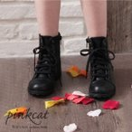 子供服 女の子 キッズ 子供 子供靴 キッズ靴 靴 くつ こども ショートブーツ ショート ブーツ ファスナー レースアップ Rora シャロットブーツ