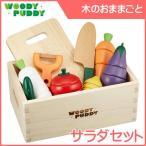 ままごと はじめてのおままごと サラダセット(木箱入り) ディンギー おもちゃ 野菜 誕生日 安全 安心 知育玩具 調理 材料 【WOODY PUDDY ウッディプッディ】