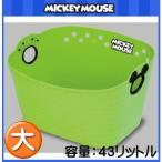 ミッキーマウス やわらかバケツ 四角 グリーン SQ43 1コ入