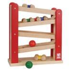 木製玩具 BB39 くるくるスロープII ニチガンオリジナル Nichigan ギフト 木のおもちゃ 車 動き 五感 シンプル 知育玩具 安心 安全 人気商品