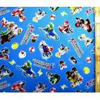 キャラクター 生地 マリオカート8 DX  ( ブルー )  柄番号2 手芸 布 綿 ( プリント )  3026-1A-kk-4901