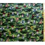 キャラクター 生地 ウルトラマン シリーズ ( グリーン )  ( 2018 - 2019 )  手芸 布 綿 ( プリント )5048-1b-kk-5202