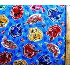キャラクター 生地 魔進戦隊 キラメイジャー ( ブルー  )( 2020 ) オックス(綿100%) 生地幅−約108cm G-5072-1B-kk-6200