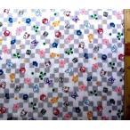 生地 ダブルガーゼ 鬼滅の刃( 市松 グレー ) 柄番号9( 綿100% ) 幅−約106cm( 商品の特性上、柄が多少歪んでいる場合がありますのでご了承ください )