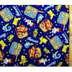 キャラクター 生地 ポケットモンスター ( ポケモン )(紺)柄番号106 ( 2020 ) オックス ( 布 綿100% ) 生地幅−約108cm  ソード シールド