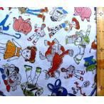 キャラクター 生地 トイストーリー 4 ( ブルー )  柄番号32  ( 2019 )   ディズニー  トイ ストーリー4 映画  g-7389-1a-kk-5767