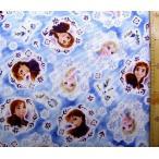 キャラクター 生地 アナと雪の女王 2 ( ブルー紺 )柄番号19 ( 2019 - 2020 )  クラフトシリーズ   生地幅−約108cm  gr-1088-1a-kk-6144