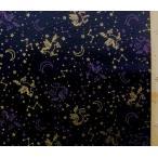 プリント 布 ペガサス ラメスター ( 黒 )  ツイル ( 綿100% )  生地幅−約108cm KNY-HSK437-A-nk-2068