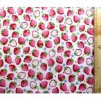 プリント 生地 イチゴ がいっぱい ( オフ )kok-loa-49010-1-a-nk-2060