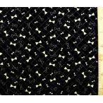 Q キルティング 生地 ゴールド チャーミー リボン  ( ラメ入り )  ( 黒 )  ( 生地 キルティング キルト )  q-swa-975-f-nq-3129