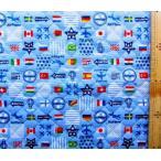 Q キルティング 生地 ナショナル フラッグ ( 国旗 )  ( ブルー )  ( 生地 キルティング キルト )  q-swa-991-b-nq-3149