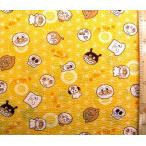 リップル 生地  アンパンマン ( イエロー )柄番号75 ( 布 浴衣 ゆかた 甚平 じんべえ )  r-2010-24c-1903