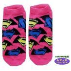 ◇ キャラクター ソックス ( 靴下 )  バットマンVSスーパーマン ( レディス22〜24cm )  ( ロゴちらし ピンク )