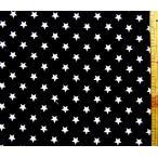 プリント 生地 スター ライト ( 黒 ) 星柄