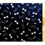 プリント 生地 ゴールド チャーミー リボン  ( ラメ入り )  ( 黒 )  swa-975-f-nk-1954
