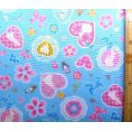 プリント 生地 ハート のプリンセス ( ブルー )ラメ入り swa-976-c-nk-2010