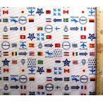 プリント 生地 ナショナル フラッグ ( 国旗 )  ( 生成 )swa-991-a-nk-1990
