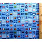 プリント 生地 ナショナル フラッグ ( 国旗 )  ( ブルー )swa-991-b-nk-1991