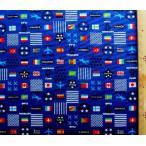 プリント 生地 ナショナル フラッグ ( 国旗 )  ( 紺 )swa-991-c-nk-1992